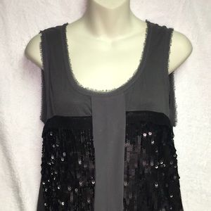 Sasssy sequins from Ann Taylor size large gray top